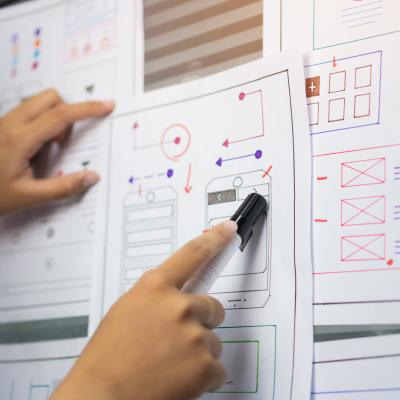 Wireframing website